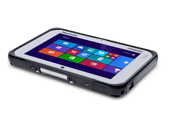 Panasonic recently introduced its latest rugged device, the Toughpad FZ-M1 Windows-based tablet, seen on stage at the Microsoft Computex Keynote 2014.