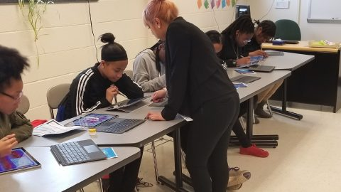 DigiGirlz Hartford at A.I. Prince Technical High School exposes girls to careers in STEM.